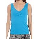 BASIC ORGANIC - niebieska koszulka fitness