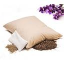 PODUSZKA Z LAWENDĄ 40x50 cm - polecana dla alergików przy bólach głowy, migrenach, dyskopatii